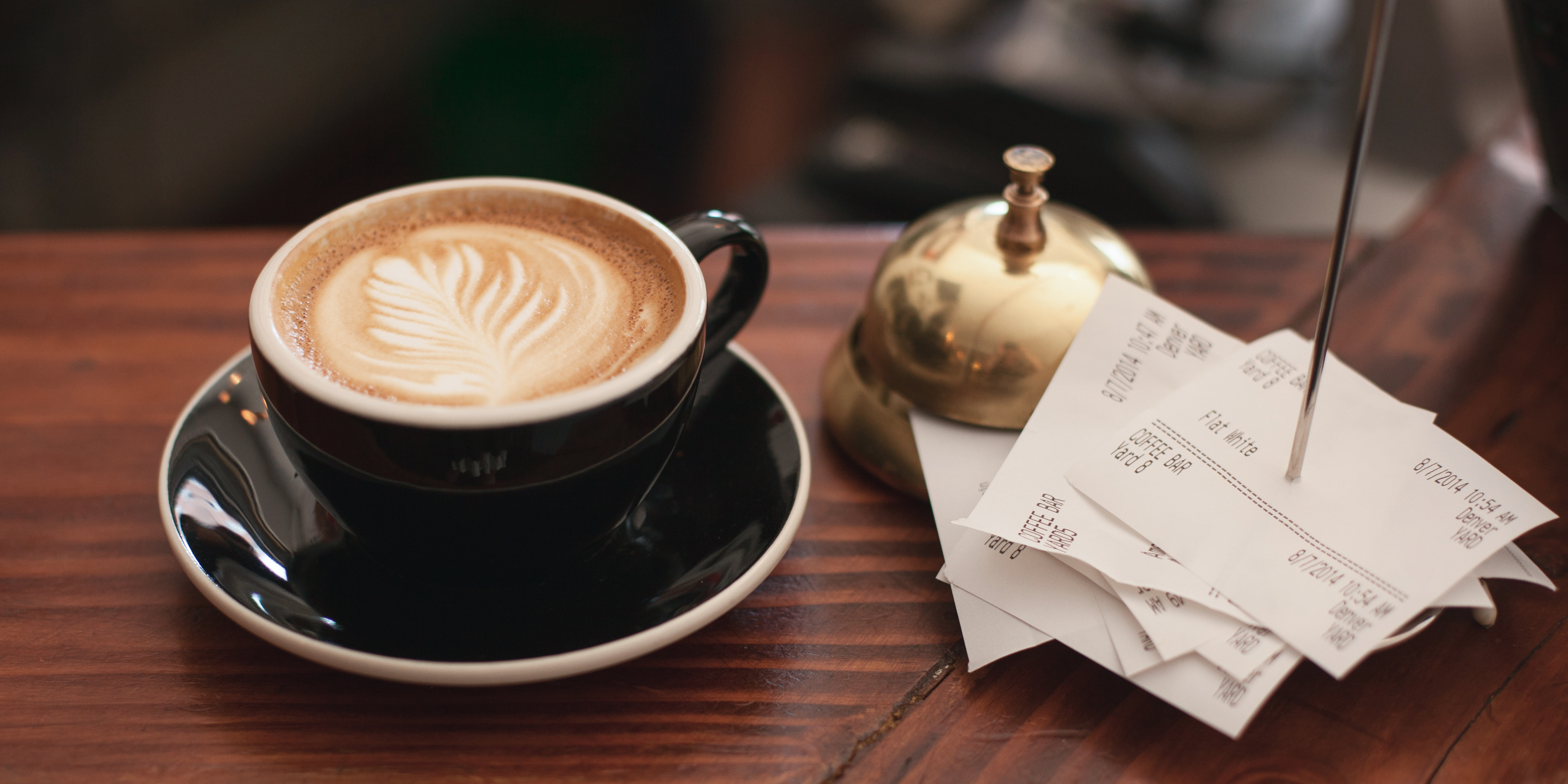 Coffee receipt as proof of purchase
